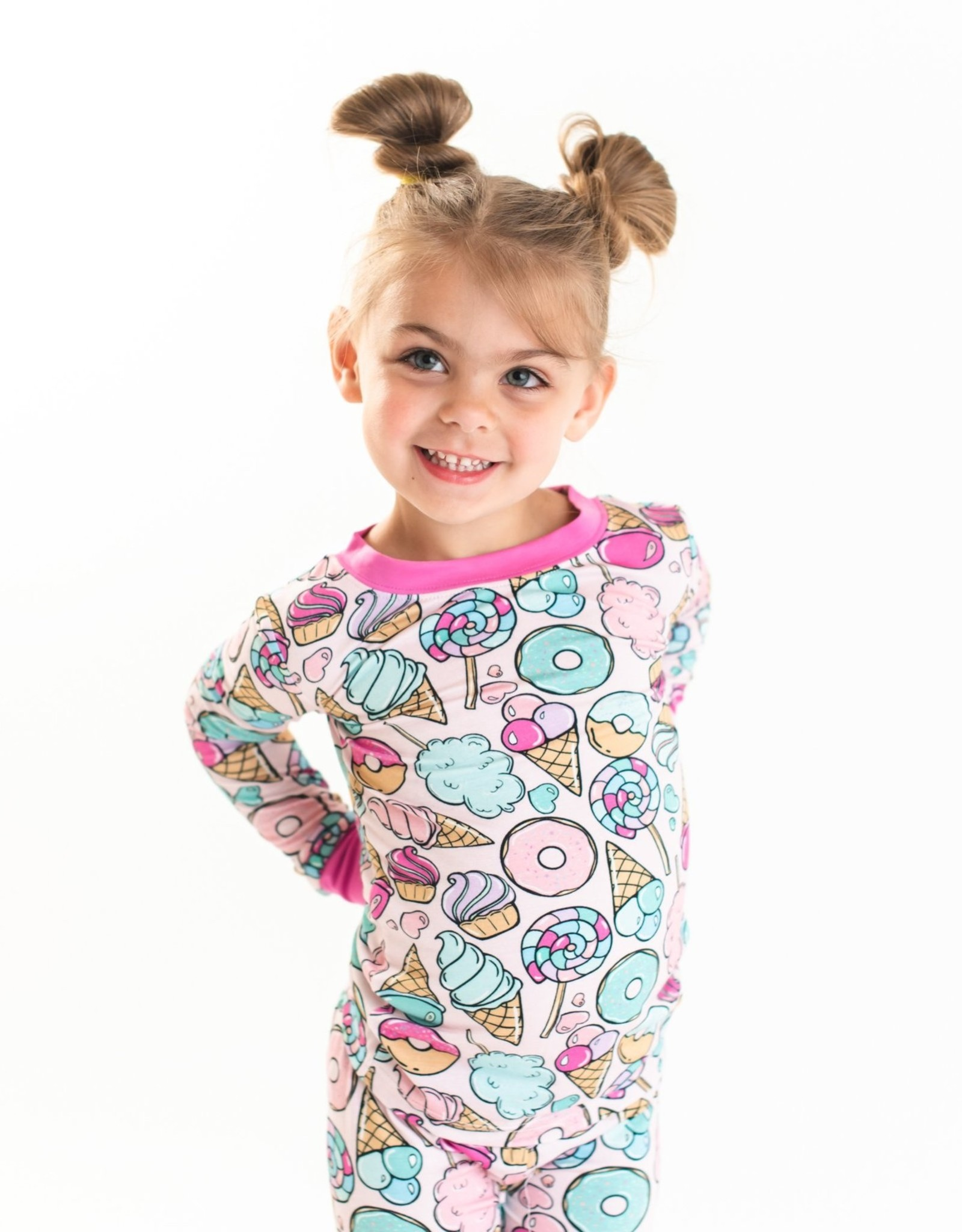 Little Sleepies Pink Sweet Treats 2-Piece Bamboo Pajama Set