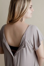 Mom Gown (Taupe) - Birth, PP, BF
