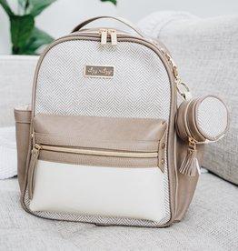 Itzy Ritzy Vanilla Latte Mini Diaper Bag Backpack