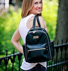 Itzy Ritzy Black Itzy Mini Diaper Bag Backpack