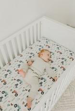 Copper Pearl Jo Premium Crib Sheet