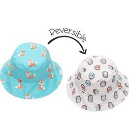 Sun Hat - Fox/Hedgehog (reversible)