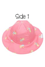 Sun Hat - Mermaid/Seahorse (patterned/reversible)