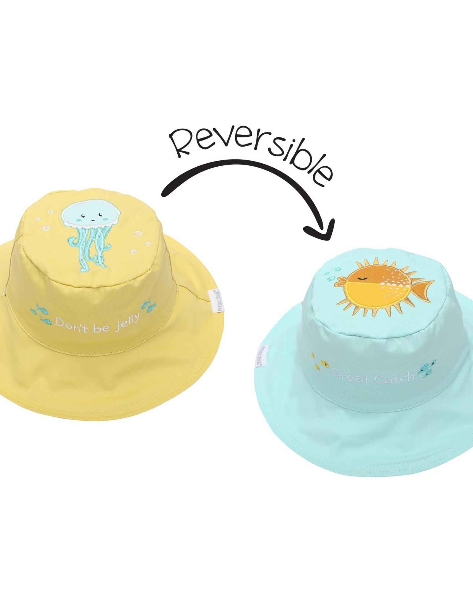 Sun Hat 6m - 2yr : Fish/Jellyfish (reversible)