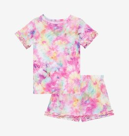 Posh Peanut Joplin - Basic Micro Ruffled T-Shirt/Ruffled Shorts Set