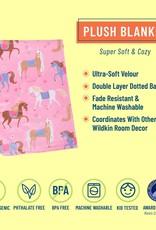 Horses Plush Blanket