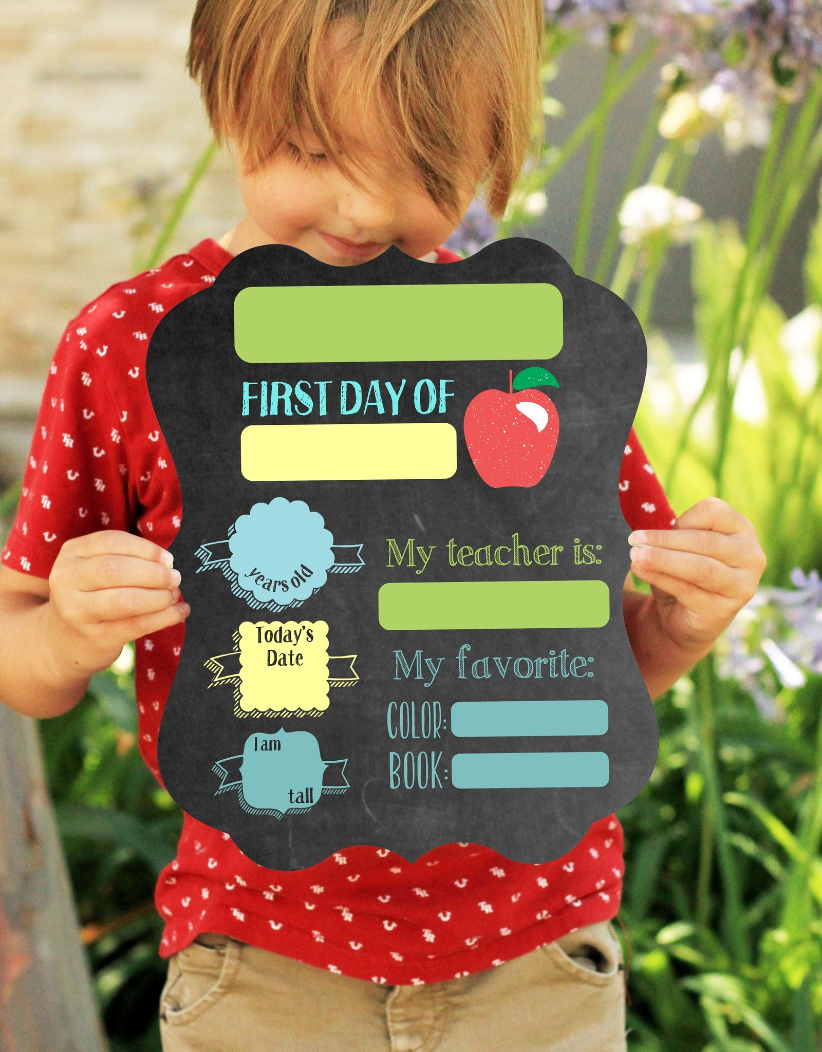 First Day of School Sign (dry erase)