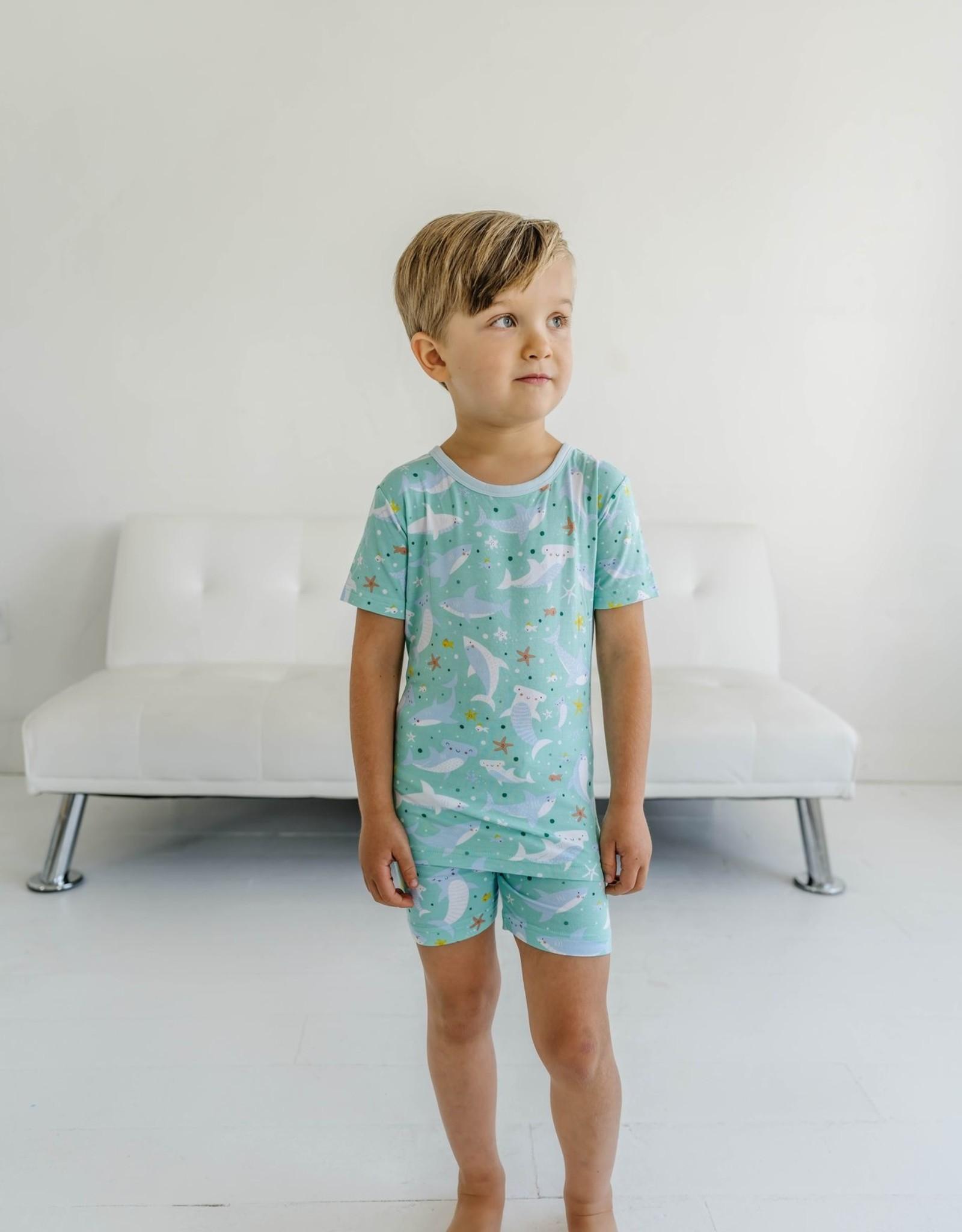 Little Sleepies Sharks Soiree Short Slv/Shorts 2-pc  Toddler Pajama Set
