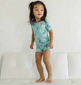Little Sleepies Mermaid Magic Short Slv/Shorts 2-pc Toddler Pajama Set