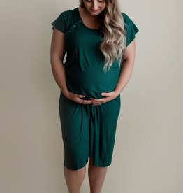 Mom Gown (Forest) - Birth/PP/BF friendly