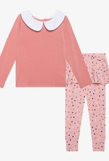 Posh Peanut Cassidy Peterpan Collar T-shirt & Skirted Legging  - Lng Slv