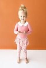 Posh Peanut Cassidy Peterpan Collar Bodysuit & Skirted Legging - Lng Slv