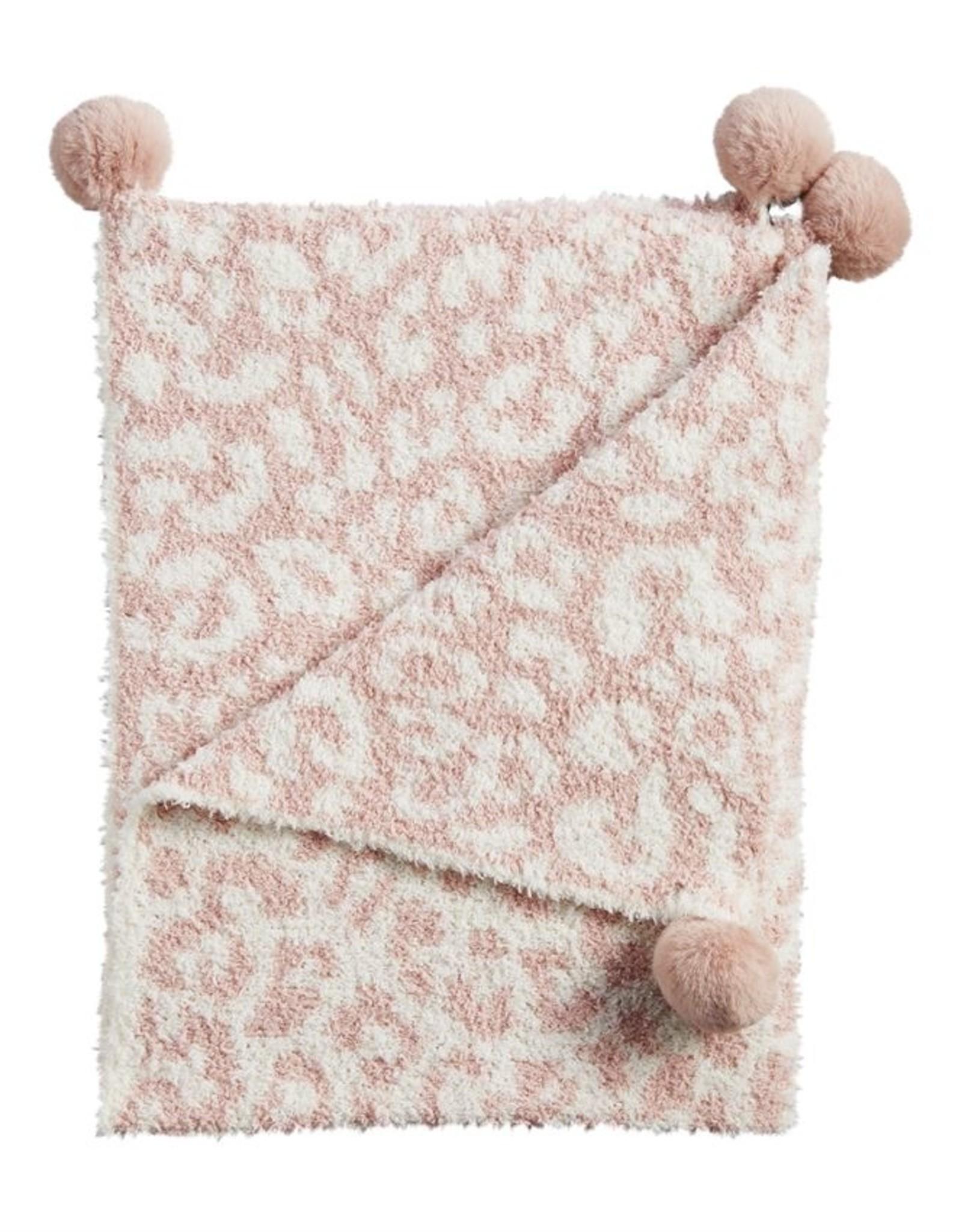 Mud Pie Chenille Leopard Blanket