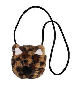 Mud Pie Brown Leopard Faux Fur Cat Purse