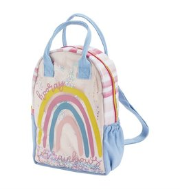 Mud Pie Canvas backpack - Rainbow