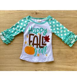 Happy Fall Y'all Polka Dot Ruffle Tee