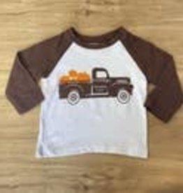 Brown Pumpkin Truck Farm Toddler T-shirt 5/6