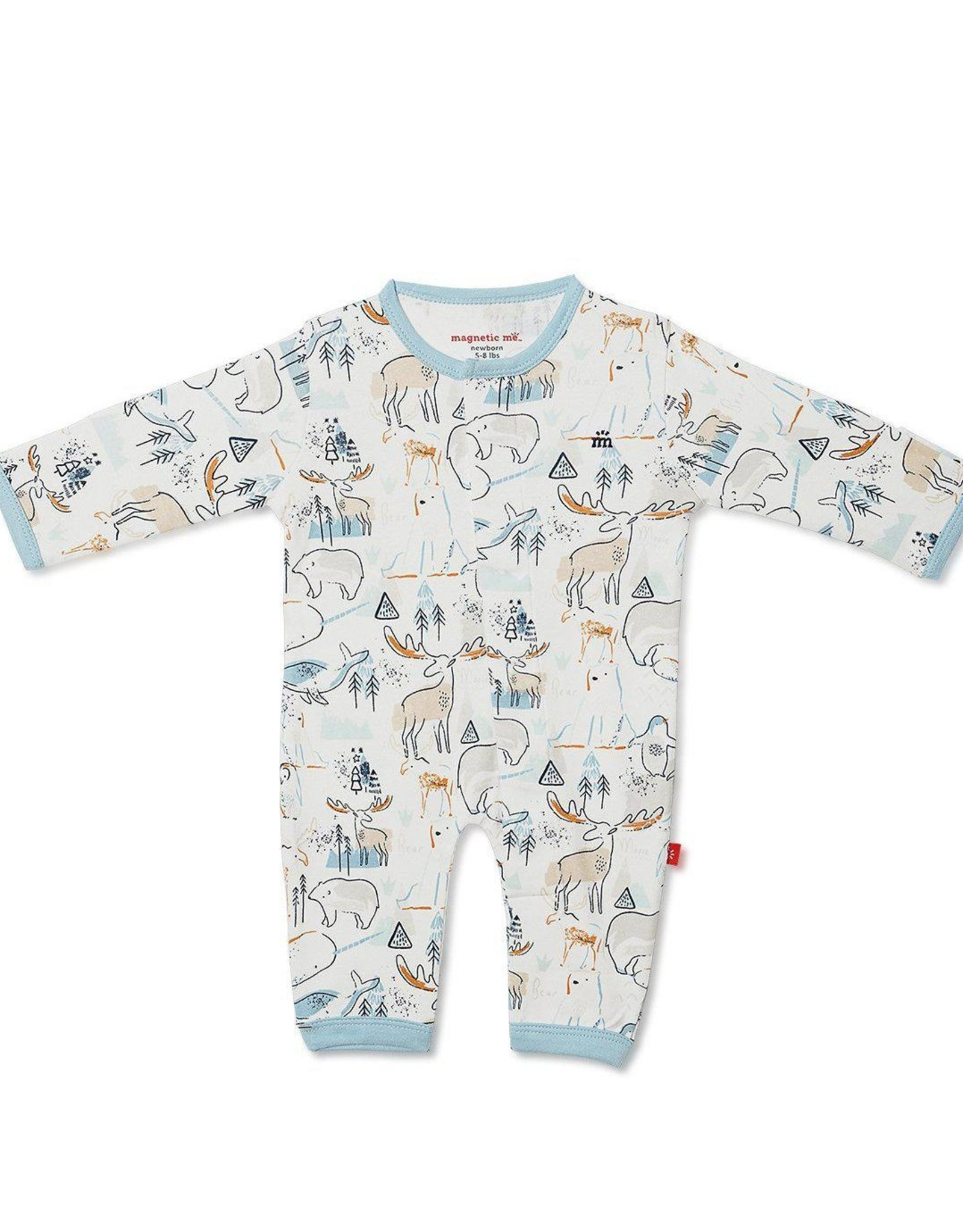 Magnetic Me Northern Lights Coverall - organic cotton, magnetic