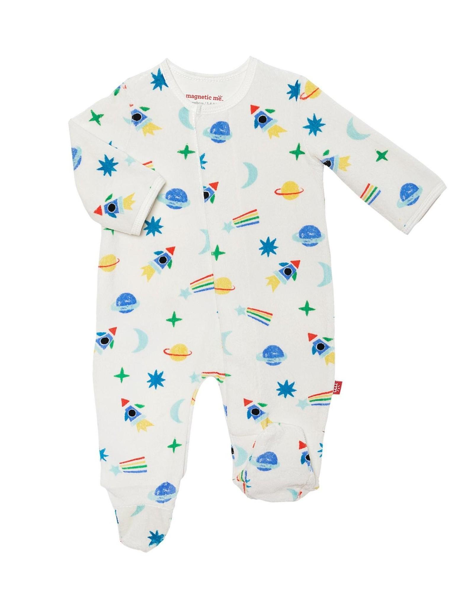 Magnetic Me Space Velour Magnetic Footie - Newborn