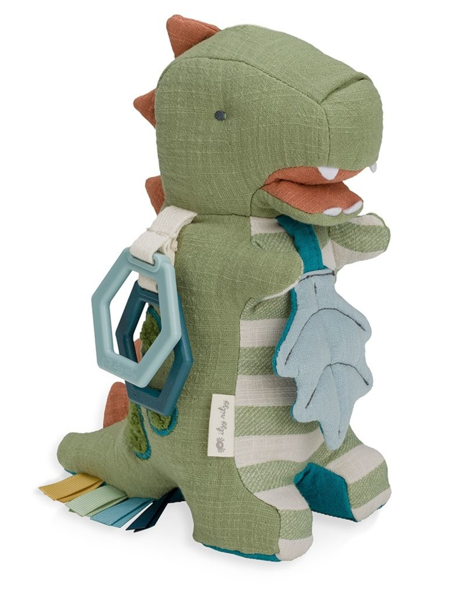 Itzy Ritzy Link & Love™ Dino Activity Plush w/ Teether Toy