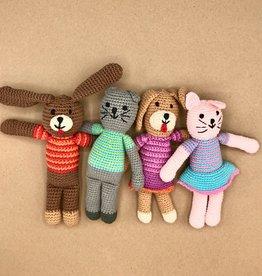 Cat & Dog Crochet Rattle Toys
