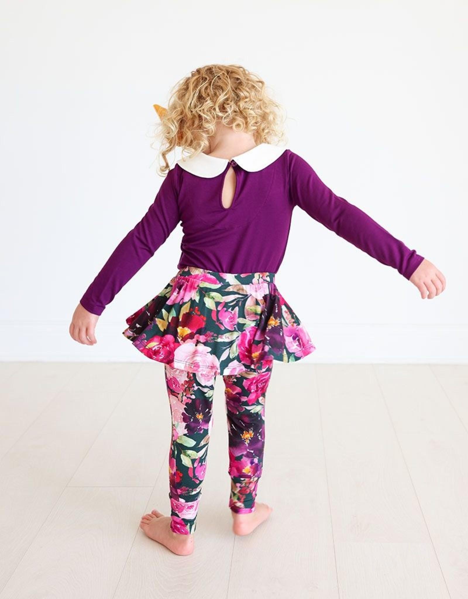 Posh Peanut Zelda - Peterpan Collar Bodysuit & Skirted Legging lng slv