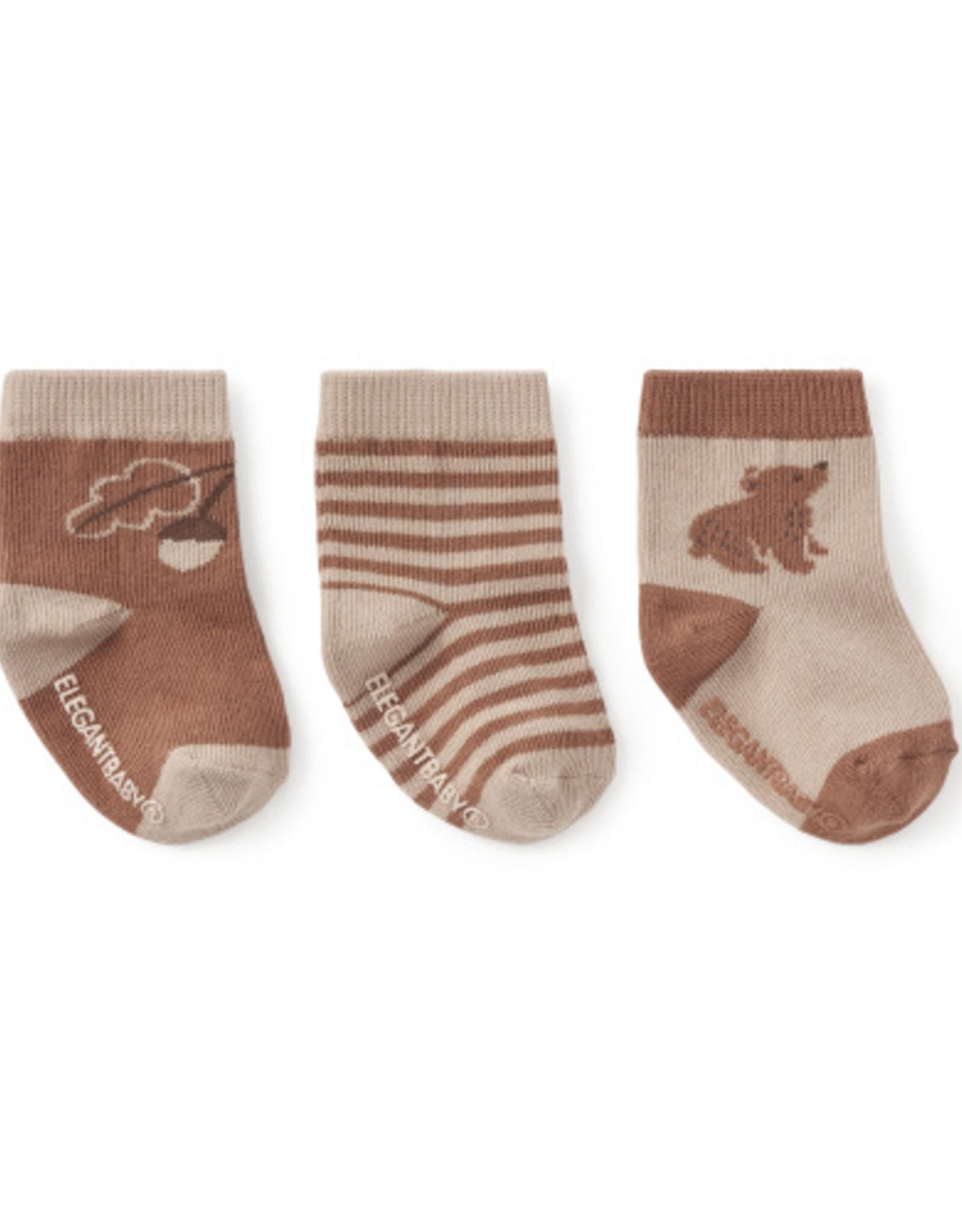 Elegant Baby Sock Set - Bear non-slip 3 pk