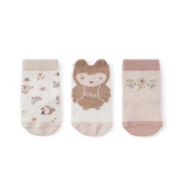 Elegant Baby Sock Set - Owl non-slip 3 pk