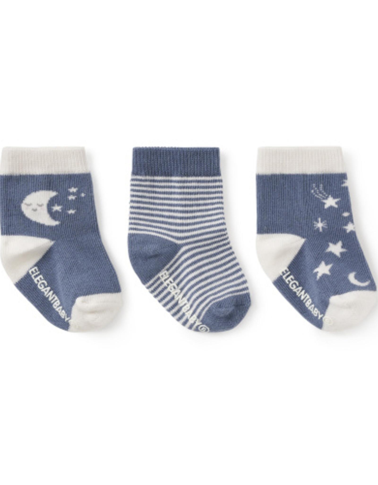 Elegant Baby Sock Set - Celestial non-slip  3 pk
