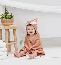 Elegant Baby Fox Hooded Bath Wrap - Rust