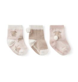 Elegant Baby Sock Set - Bunny non-slip 3PK