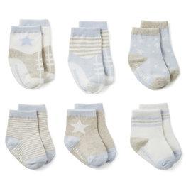 Elegant Baby Sock Set - Baby Blues non-slip 6 PK