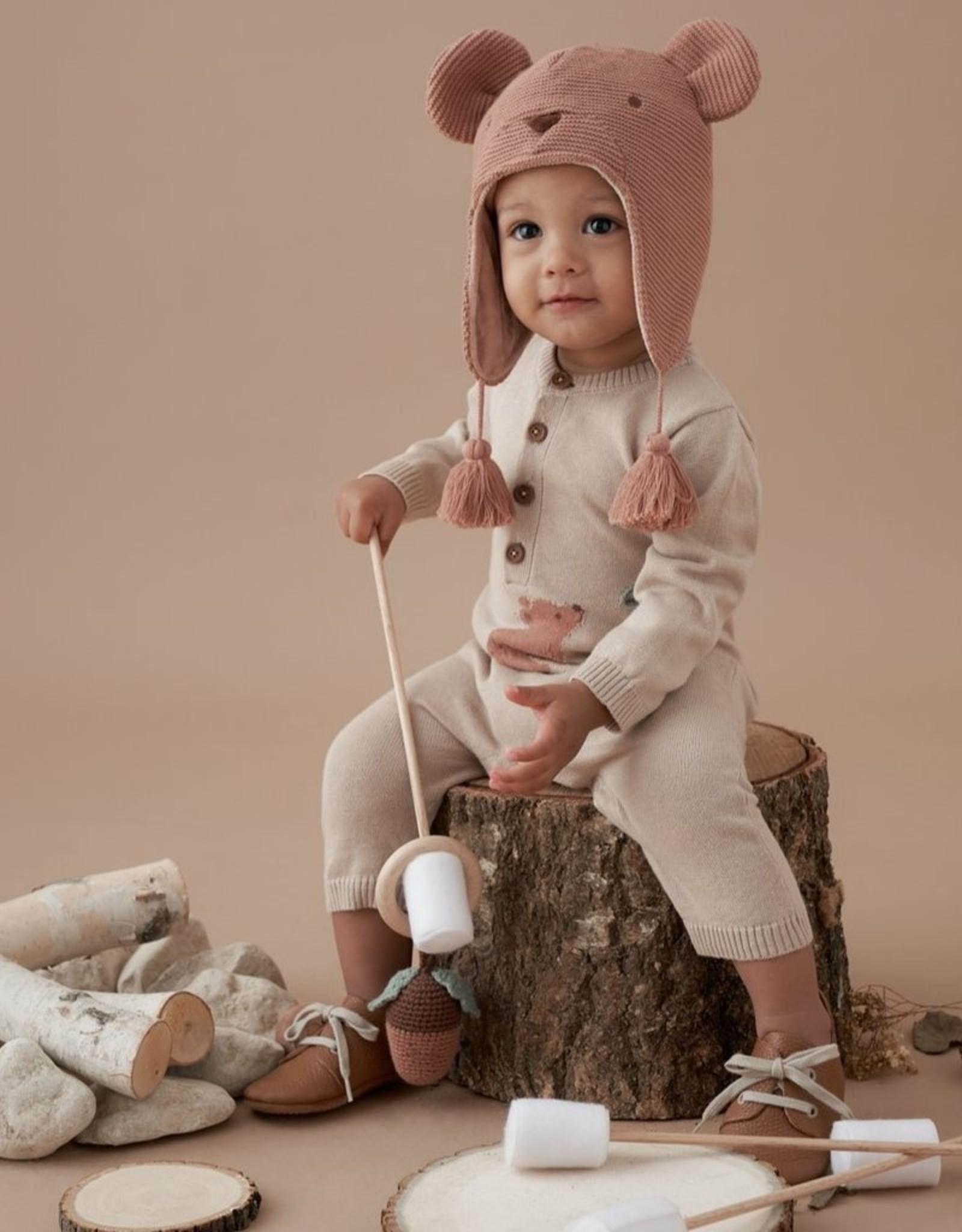 Elegant Baby Bear Knit Jumpsuit