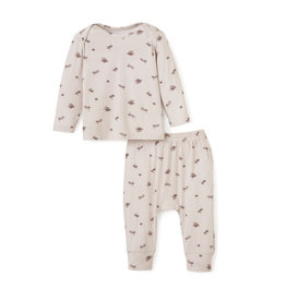 Elegant Baby Acorn Bamboo Loungewear Set