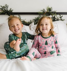 Little Sleepies Twinkling Trees (pink or green) 2 pc Pajama Set