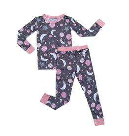 Little Sleepies To The Moon & Back (pink or blue) 2 pc. Pajama Set PRE-ORDER