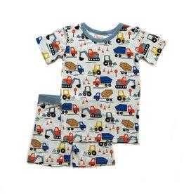 Little Sleepies Construction 2-Pc Shorty Bamboo Pajama Set 2T