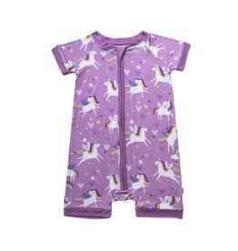 Little Sleepies Sienna's Unicorns Bamboo Zippy Shorty Infant Sleeper Pajamas