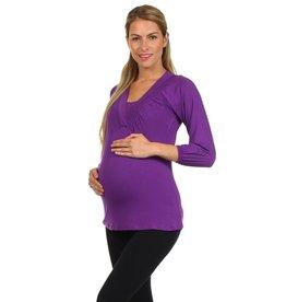 Victoria Billow Sleeve Maternity / Nursing Top