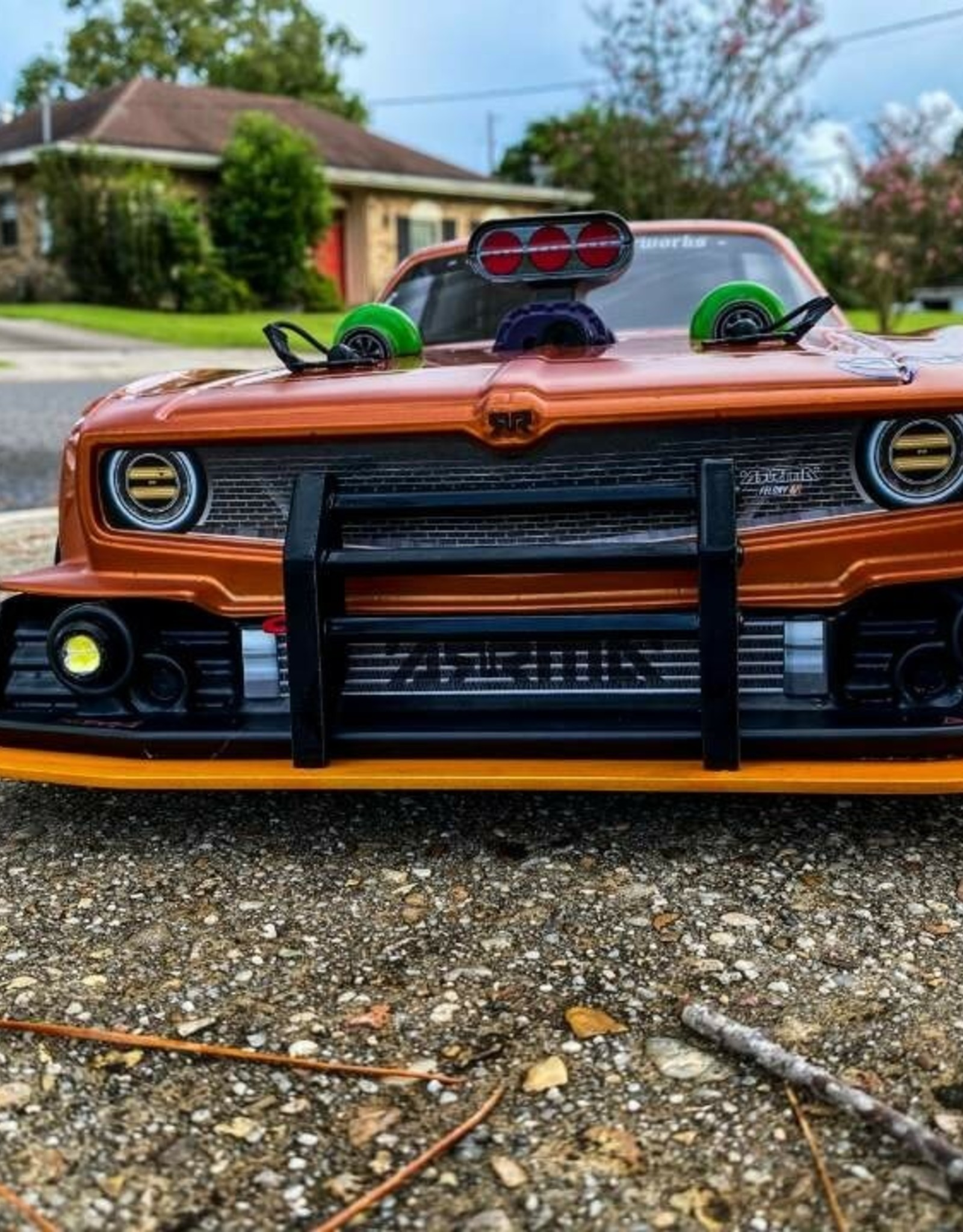 RC Speed Monsters RSM ARRMA Felony Crash Bumper (Orange/Black)