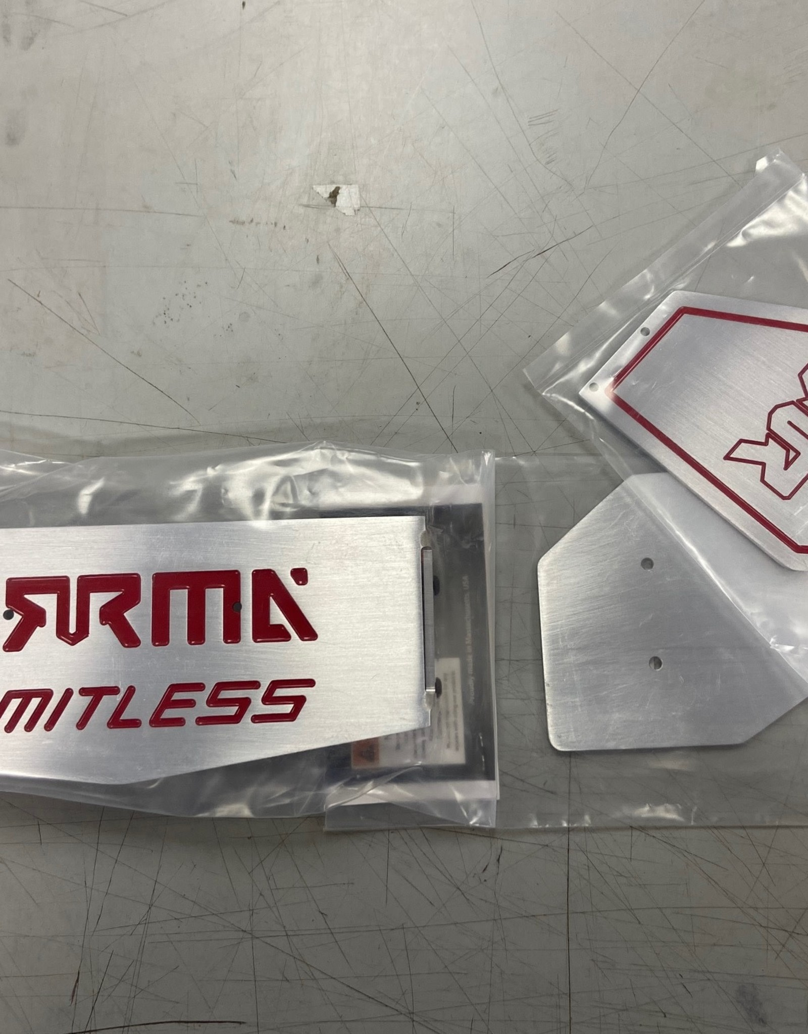 RC Speed Monsters RSM ARRMA Limitless Rear Wing Aluminum (Red Inlay)