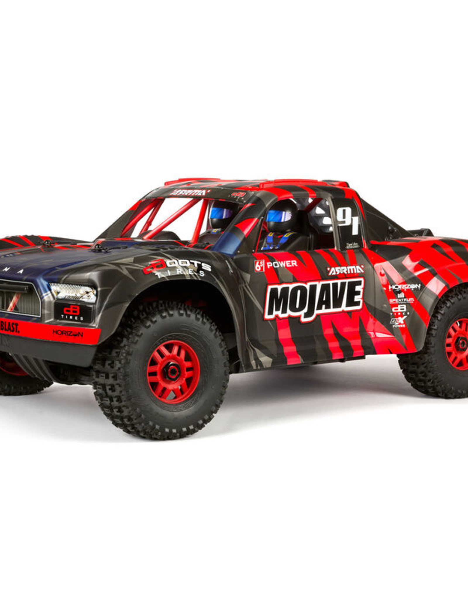 Arrma ARA106058T2 Mojave 6S BLX 1/7TH Scale Desert Racer Black/Red