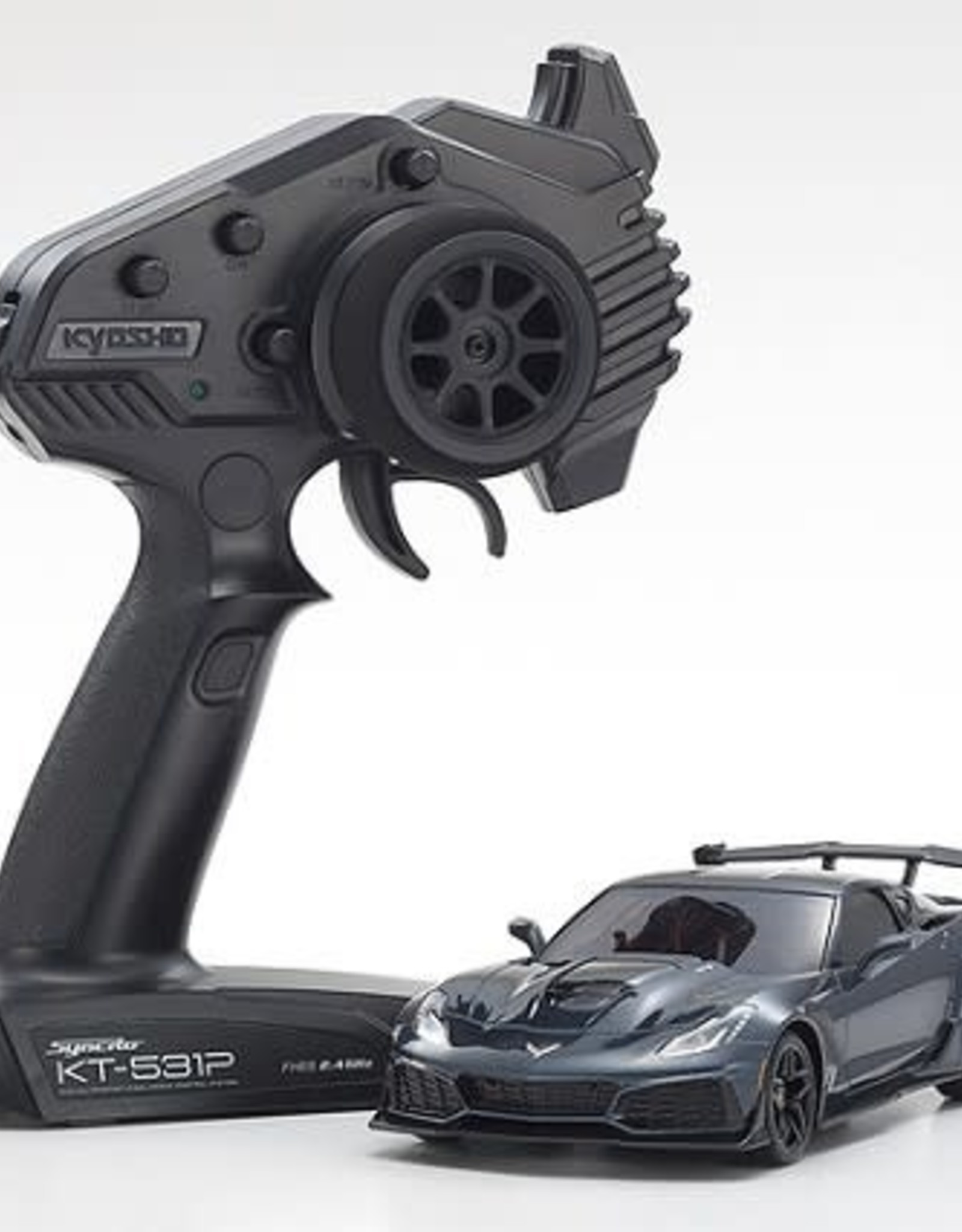 KYOSHO KYO32334GM MINI-Z RWD Corvette ZR1 Shadow Gray Metallic w/LED