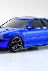 KYOSHO KYOMZP427CBL Skyline R34 Chrome Blue 20th Anniversary