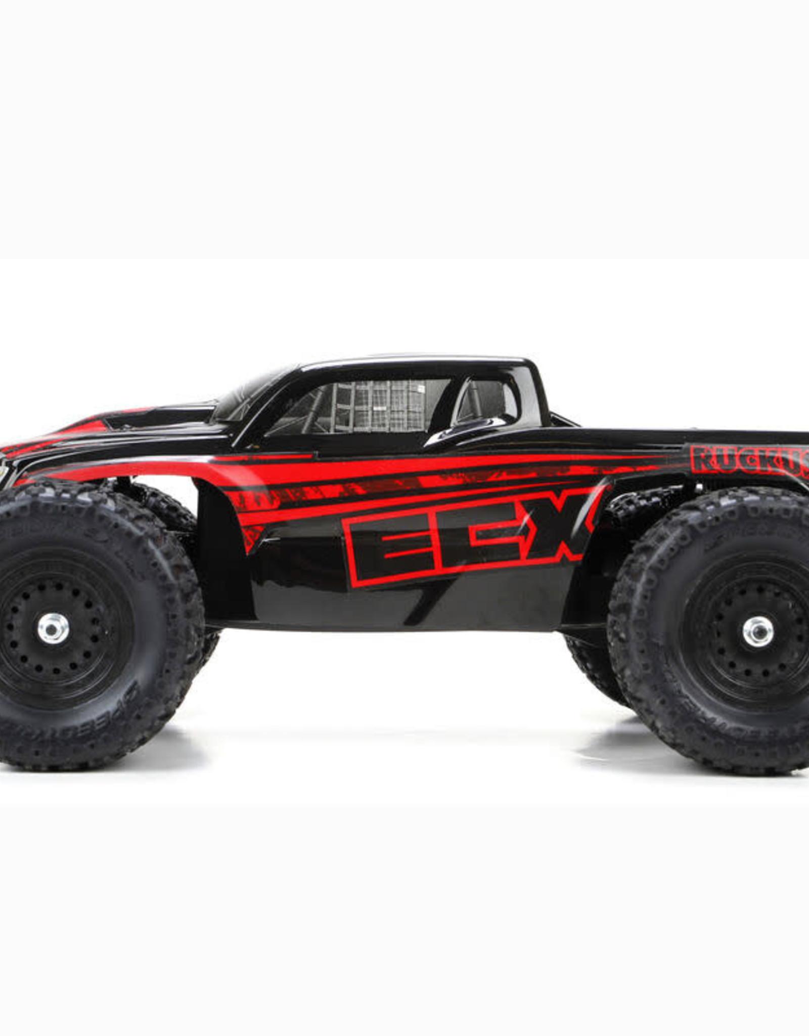ECX ECX010000T1 Ruckus 1/18 4WD Monster Truck Black/Red RTR