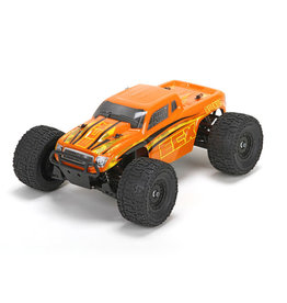 ECX ECX01000T2 Ruckus 1/18 4WD Monster Truck: Orange/Yellow RTR