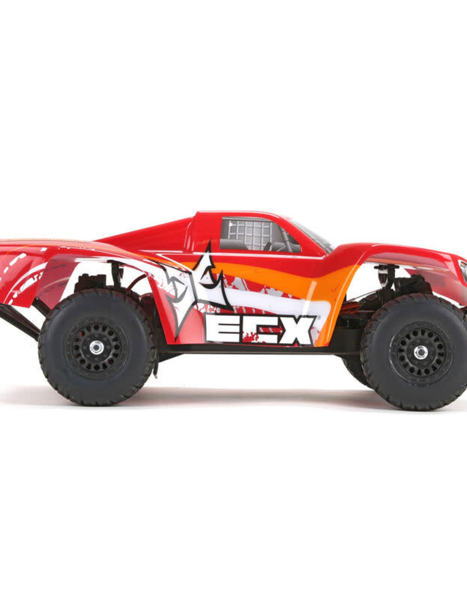 ECX ECX01001T2 Torment 1/18 4WD Short Course Truck: Red/OrangeRTR