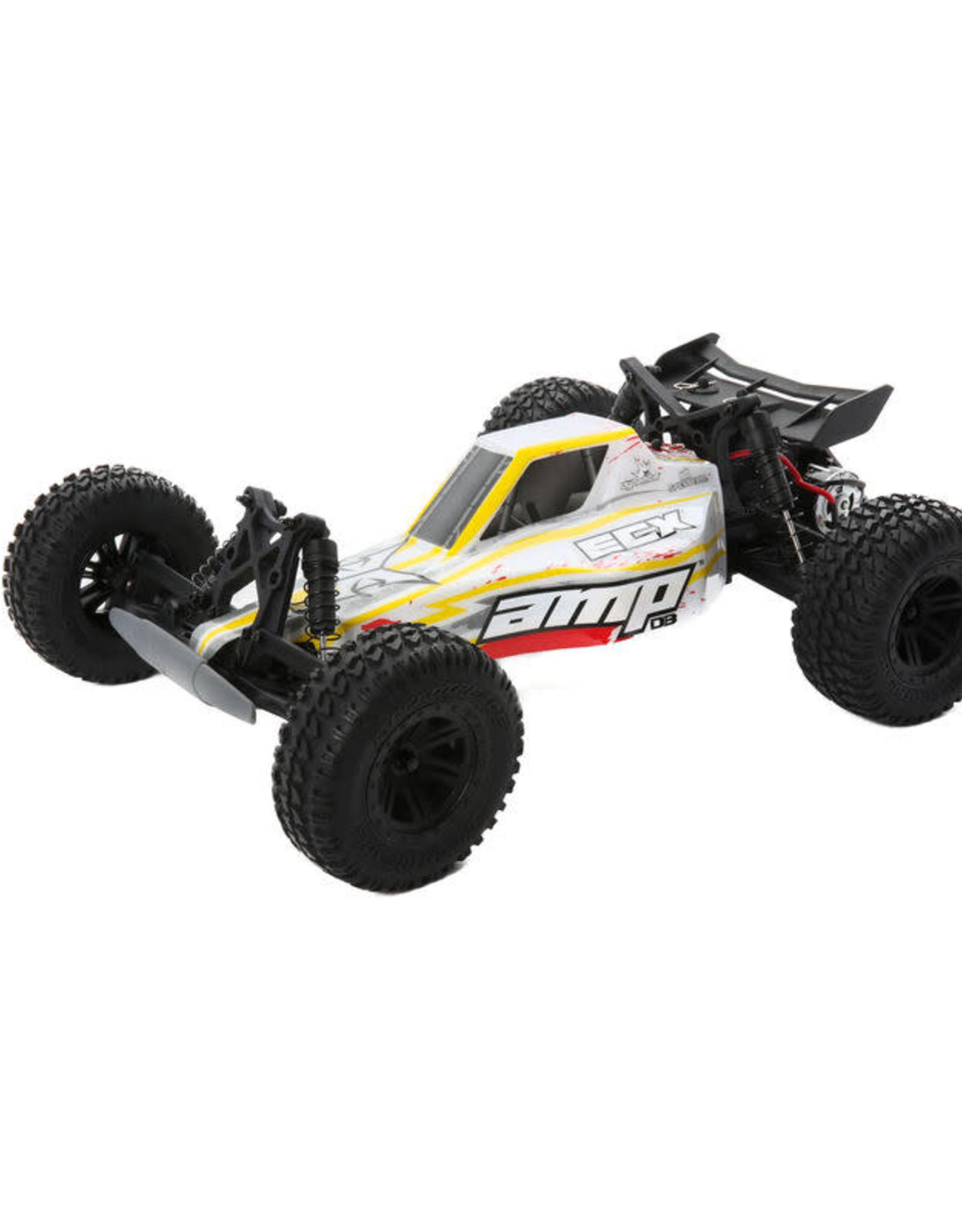 ECX ECX03029T2 AMP DB 1:10 2WD Desert Buggy: White/Red RTR