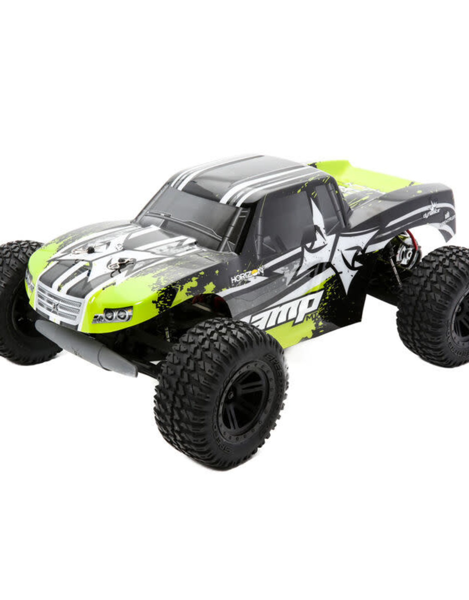 ECX ECX03028T2 AMP MT 1:10 2WD Monster Truck: Black/Green RTR