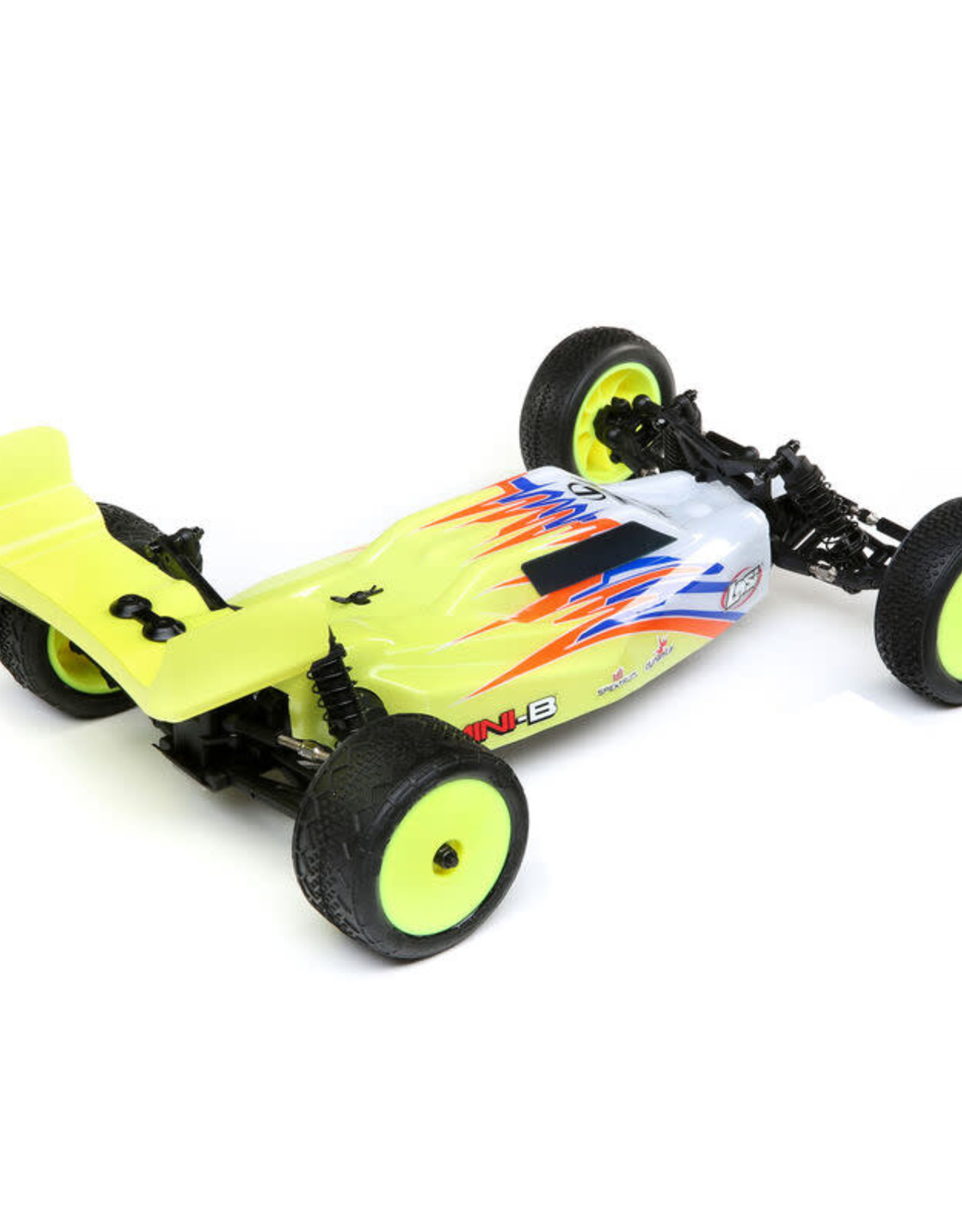 Losi LOS01016T3 1/16 Mini-B Brushed RTR 2WD Buggy, Yellow/White